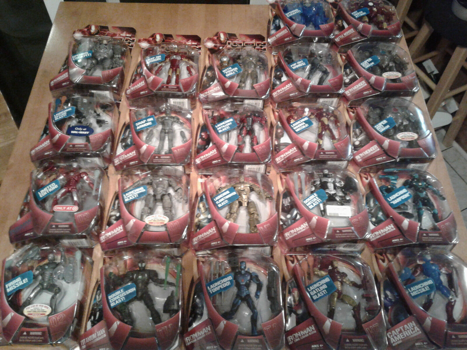 Marvel Legends NEW - IRON MAN 1 MOVIE - LOT of 22 - RARE Concept Heavy Artillery