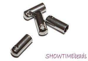 Edelstahl-Endkappe-7-5x3mm-10-Stueck-silber