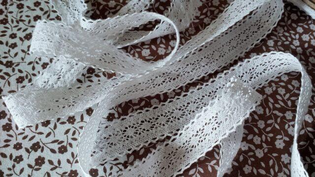 3m Vintage Cotton crochet lace edge trim white Ribbon Sewing Crafts scallop new