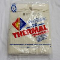 Vintage Thermal Underwear Kmart Xxl Made In Usa Ankle Length Drawer 100% Cotton