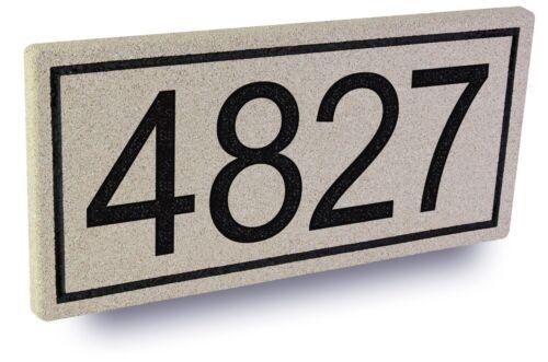 Build-A-Stone Custom Engraved Address Stone Mailbox House Numbers Brick
