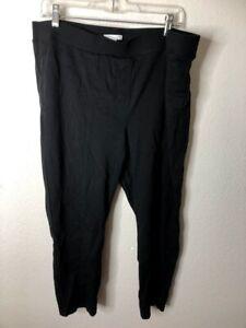Daily-Ritual-Women-039-s-Seamed-Front-2-Pocket-Ponte-Knit-Legging-Black-XXL-Short