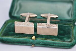 Vintage-Sterling-Silver-cufflinks-with-an-Art-Deco-design-B799
