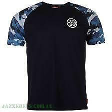 Kickers-Mens-T-Shirt-Navy-and-Camo-Sleeve-Size-Medium-4