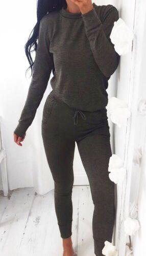 Donna Maglione a Maniche Lunghe Felpa Jogger Set Tuta Abbigliamento