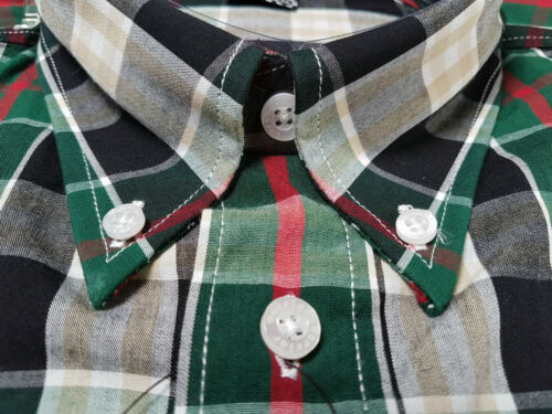 Warrior UK England Button Down Shirt THRIPP Slim-Fit Skinhead Mod Retro