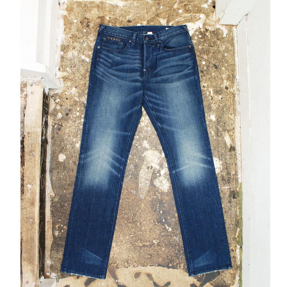 NEU Evisu bluee Jeans mit Nieten Echt RPP   NEU mit Etikett