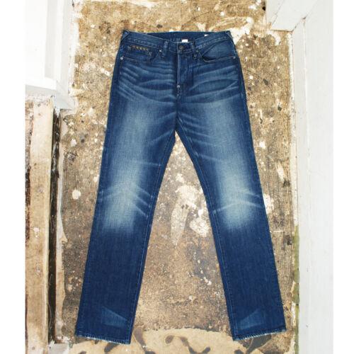 £ 195 bnwt Nouveau evisu jeans bleu avec rivets genuine rpp