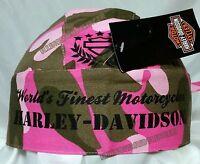 Harley-davidson® Women's Pink Camouflage Headwrap Doo Rag