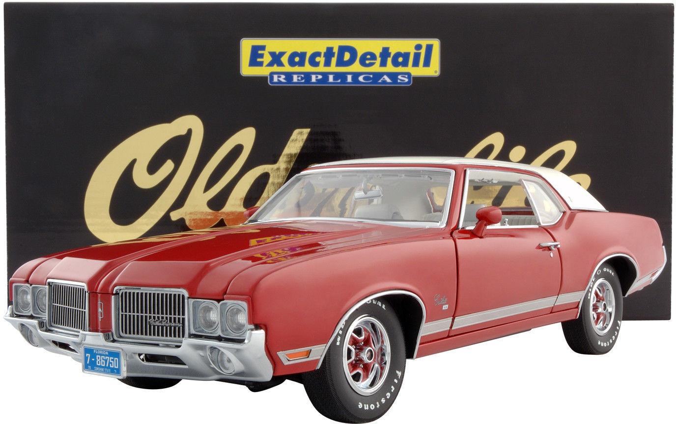 1 18 Exact Detail B 1971 Oldsmobile Cutlass Supreme SX Matador Red Rarity §