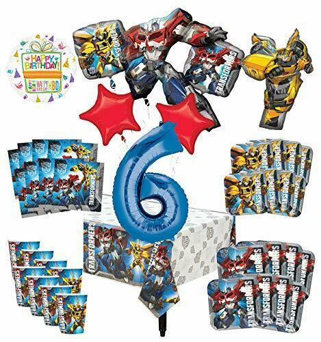Transformers 6th Birthday Party Supplies 8 Guest Decoration Kit and Balloon B