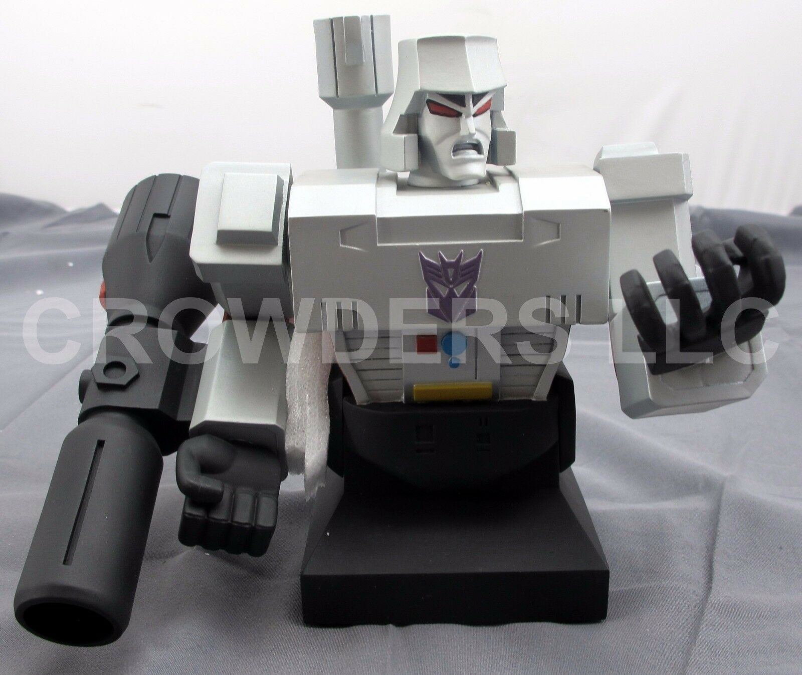 Rare Hard Hero Transformers MEGATRON Statue 6  Painted Porcelain Bust '01