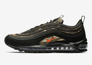 Details about Nike Air Max 97 RLT REALTREE CAMO BLACK ORANGE OLIVE GREEN BV7461 001 Men's