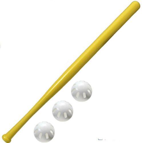 3 Official Baseball Wiffle® Balls and 1 Bat