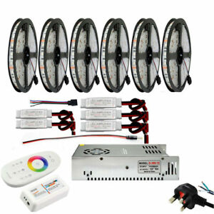 30M-to-5M-5050-IP65-IP20-RGB-LED-Strip-in-Series-2-4G-Touch-Remote-PSU