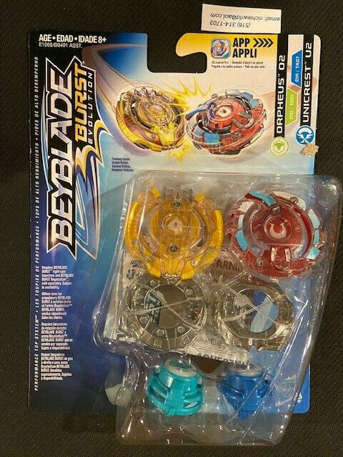 Beyblade Hasbro Burst Evolution Spinning Top Twin Pack Orpheus O2 /& Unicrest U2