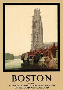 TT15-Vintage-Boston-Lincolnshire-LNER-Railway-Travel-Poster-Re-Print-A4