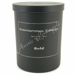 Scentsational-Natural-Soy-11oz-Single-Wick-Black-Premium-Candle-BOLD-SCENT