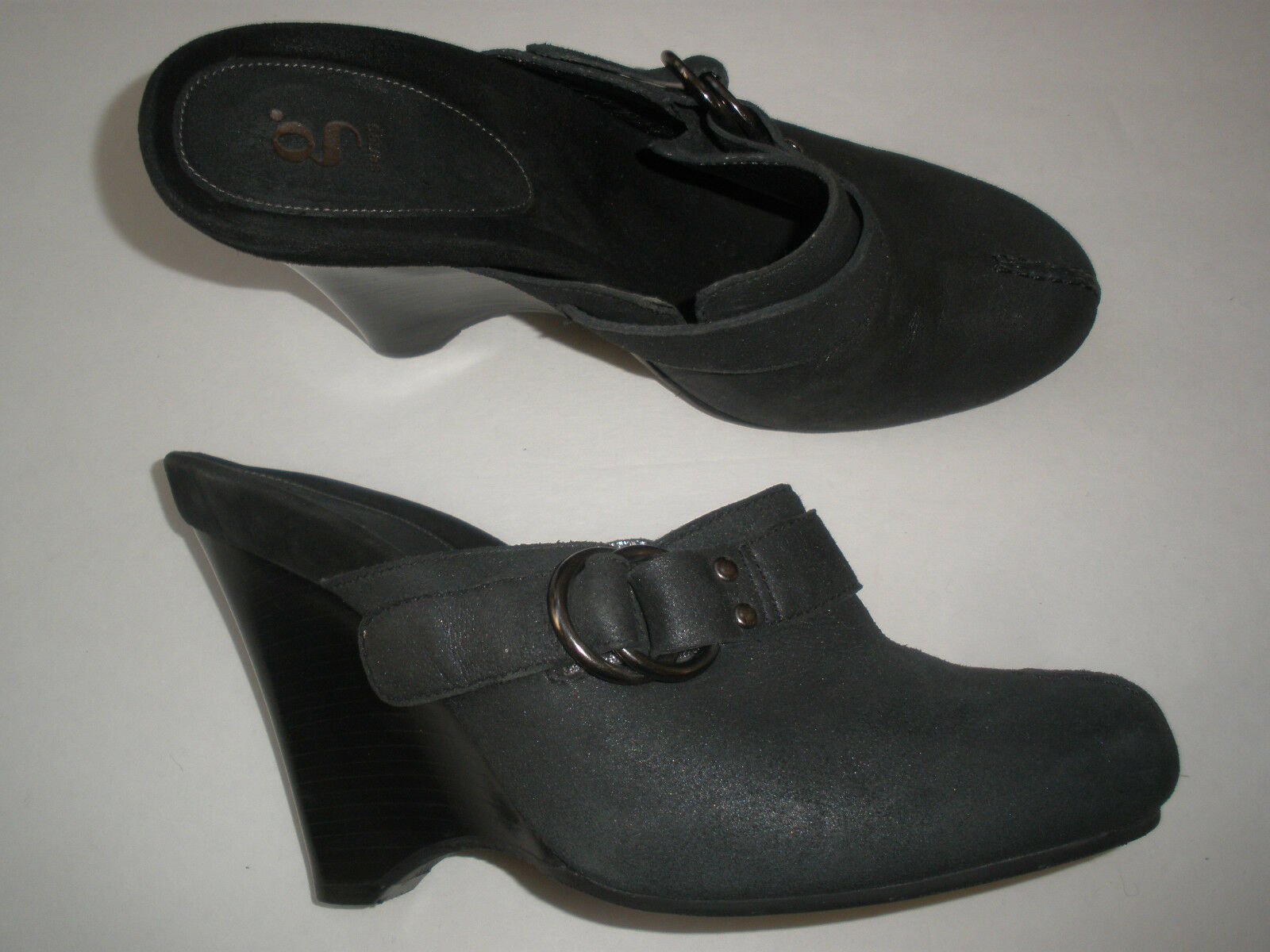 COLE HAAN G SERIES LEATHER WEDGE CLOGS SIZE US 8 HOT VINTAGE