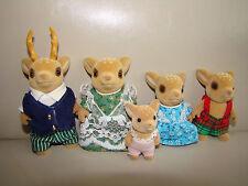 Discontinued RARE Sylvanian Families Figures Moss Reindeer Deer Family Set Baby