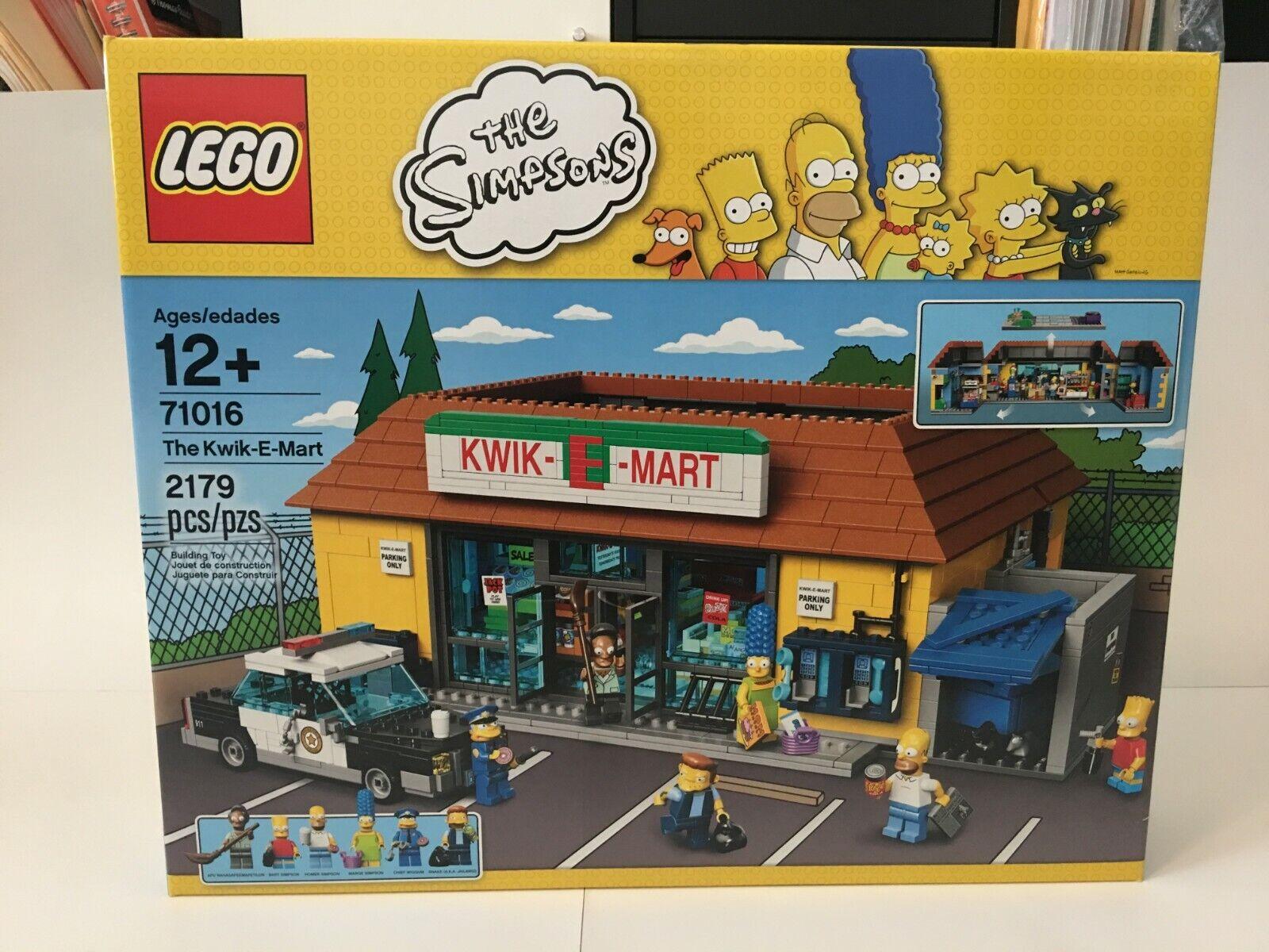 nuovo LEGO The Simpsons 71016  The Kwik-E-Mart Factory Sealed Retirosso gratuito Shipping  qualità di prima classe