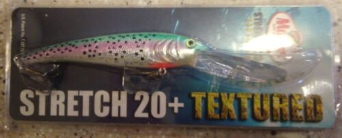 Mann/'s Textured Stretch 20 BIGFISH Cast//Trolling Lure T20-88 in RAINBOW TROUT