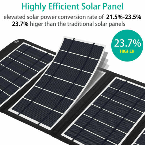 Details about  /16W24W Foldable Solar Panel Battery Charger USB Ports for Phone Power BLLA e 234
