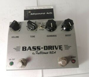 Fulltone Bass Drive Overdrive Effects Pedal OD Original Issue Free USA Ship