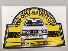 Opel ons Kadett D Cup móvil 1 Trophy pegatinas 80-er años rar