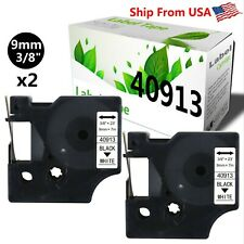 2 Pack 40913 Label Tape S0720680 For Dymo Label Writer Rhinopro 420052006000