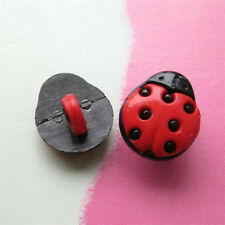 15 Beetle Ladybug Flying Insection Kid Novelty Sewing Buttons 12mm Red K22