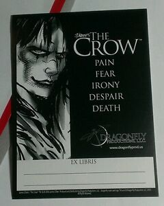 THE-CROW-EX-LIBRIS-DRAGONFLY-JAMES-O-039-BARR-PROMO-COMIC-BOOKPLATE-BLANK-STICKER