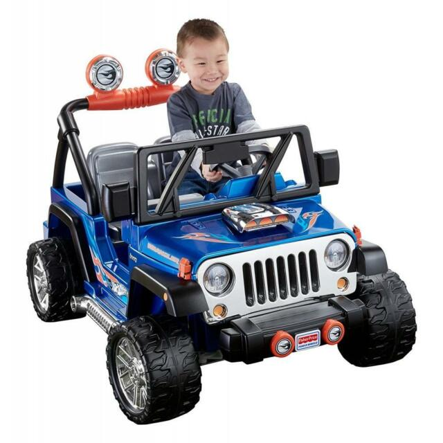 Kids Electric Jeep Wrangler 12v Battery Ed Car Hot Wheels 2 Seater
