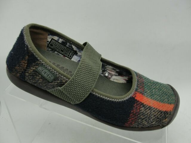 MERRELL Plaid Multi-color Mesh Mary Jane Sport Clog Slip On Shoes Women Size 7