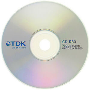 1 Disc TDK CD-R 700mb 80 min in plastic sleeve   eBay
