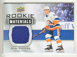 2019-20-UD-SERIES-OLIVER-WAHLSTROM-RC-JERSEY-ROOKIE-MATERIAL-Upper-Deck-Islander