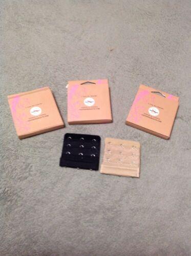4 Nude//Beige /& 4 BLACK 8 New Bra Extenders 3 Hook style Shape Changer