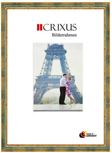 CRIXUS40-Real-Wood-Picture-Frame-Antique-Green-Gold-Baroque-Photo-Frame-B-44-453