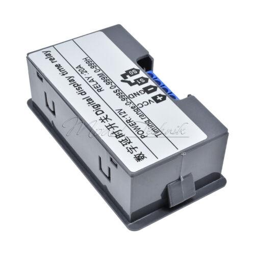 DC12V Digital LED Dual Display Cycle Timing Delay Timer Relay Module AC110V-220V