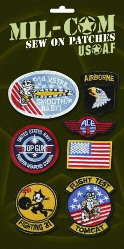 USAF style US Air Force Flying Suit Kids Fancy Dress Sew On Cloth Patches Badges