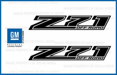 set 2 Z71 Off Road Chevy Silverado 14-18 Decals Stickers Fade Red Ruby GRRUBY
