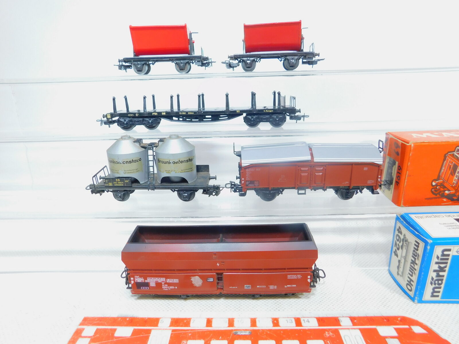 By271-1 x Märklin H0   Ac Wagon de Marchandises Db   4619+4516+4624 Etc,