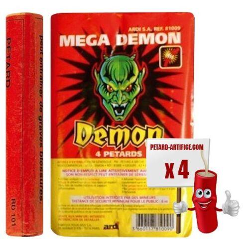 Firecracker mega demon x 5 packets of 4 knallteufel height 15 cm diameter 2.5 cm