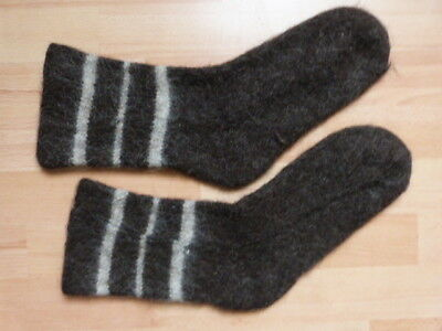 HAND MADE GRANDMA THICK SOCKS WOOL DOGS HAIR BLEND NATURAL COLDS FLU TREATMENT