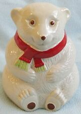 Vintage Ceramic POLAR BEAR Wearing a Scarf MONEY BOX