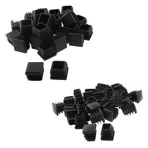 Square-Table-Chair-Leg-Feet-Tube-Pipe-Insert-Cap-30pcs-Black-T1F6