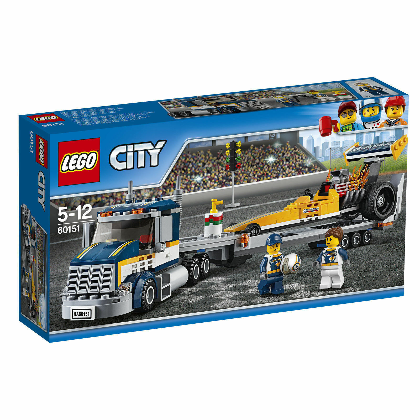 LEGO® City 60151 Dragster Transporter - NEW / FACTORY SEALED
