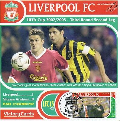 Liverpool 2002 03 Vitesse Arnhem Michael Owen Football Stamp Victory Card 215 Ebay