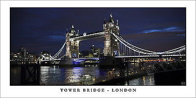 Poster Panorama Tower Bridge London England United Kingdom Fine Art Print Photo
