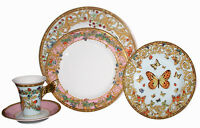 VERSACE BUTTERFLY 5 PIECE PLACE SETTING PLATE CUP SET ROSENTHAL NIB AUTHENTC